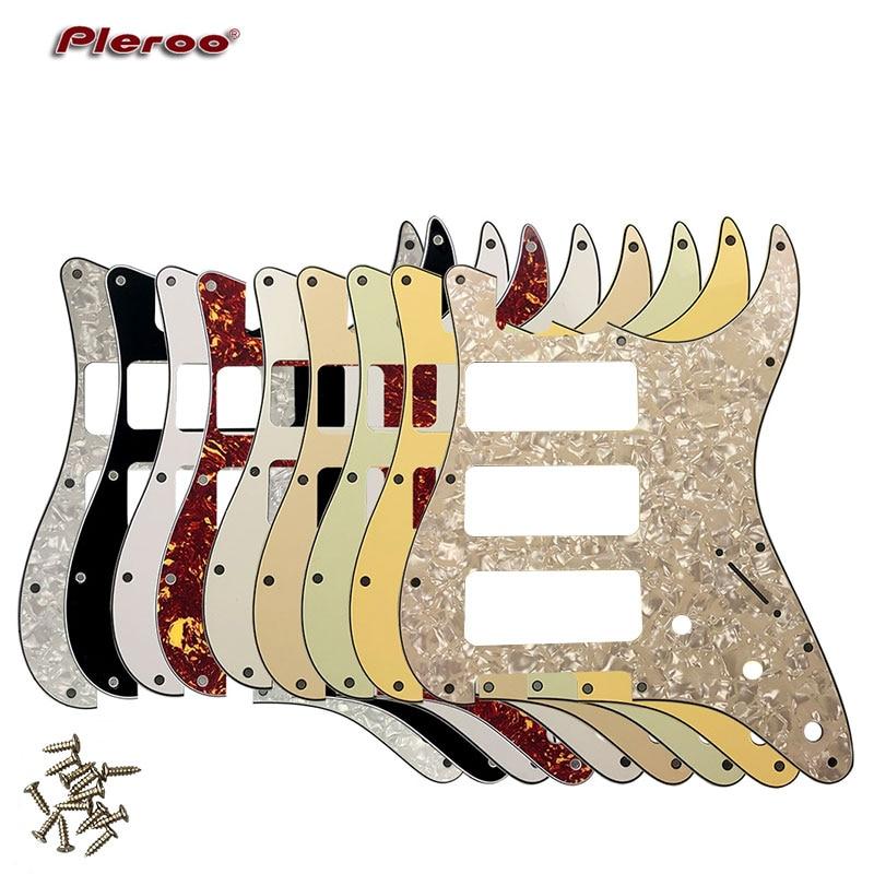 Pleroo отличное качество гитарные части 3 P-90 гитара Stratocaster PICKGUARD для США 11 винтовых отверстий Strat 3 P90S Humbucker