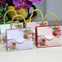 50 pcs tote bag favor box candy favor wedding party guests return gifts