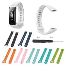 Модный силиконовый ремешок для браслета, спортивные Сменные наручные часы для Huawei Honor 3, Смарт-часы с инструментом