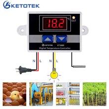 Ca 220V 10A Thermostat numérique régulateur de température contrôleur micro-ordinateur commutateur de contrôle de température cc 12V 24V