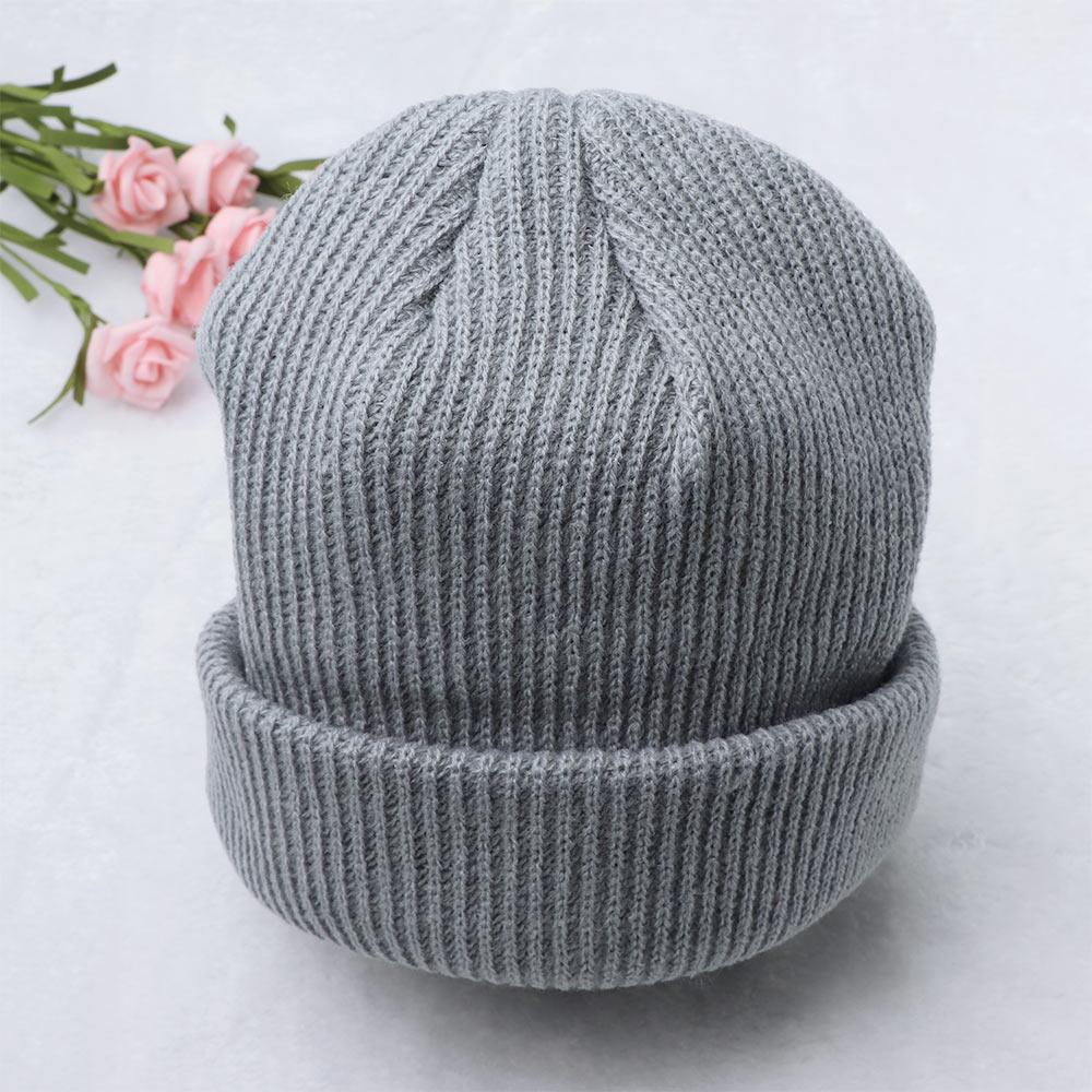 Gorros de invierno para hombre mujer gorros de cúpula tejidos sombrero liso otoño cálido Unisex sombrero más cálido Bonnet corto de lana gorra de correr