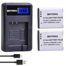 2 Pcs 1200 mAh LI50B LI-50B Batteria & LCD Caricabatteria per Olympus MJU Stylus 1010 1020 1030SW 9000 SH21SH25 SP720UZ SP800UZ SP810UZ SZ10