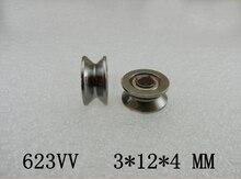 Roulement V623ZZ diamètre intérieur   Roulement à poulie à cannelure en V de 3 mm V623ZZ 6 pièces/lot