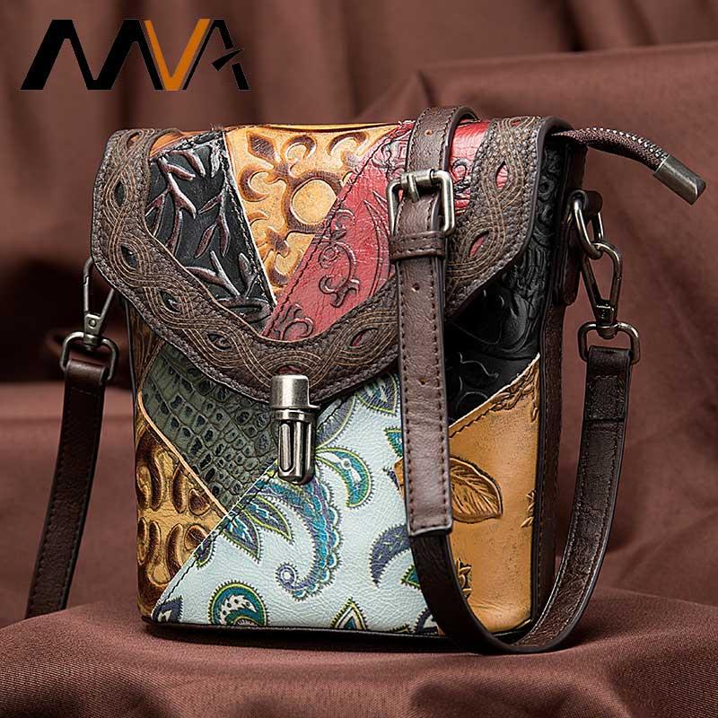 MVA الفاخرة حقيبة المرأة/السيدات جلد طبيعي حقائب نسائية صغيرة/امرأة حقائب الكتف خمر Crossbody حقائب للنساء 86388