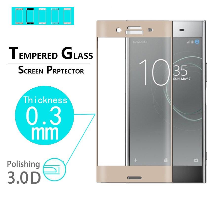 Premium full coverage glass film For Sony Xperia XZS 3D Curved Edge glass film for Sony XZS G8232 Arc edge Tempered Glass film