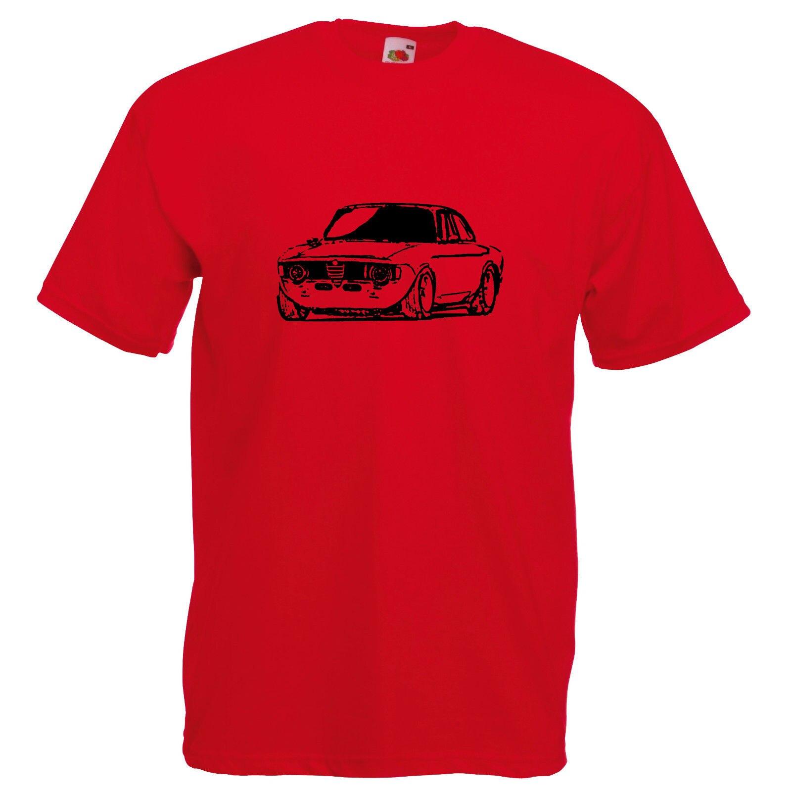 Camisetas de alta calidad para hombres, camiseta italiana de coche Romeo Bertone GTV Race GT regalo Retro Dad Car Giulia Sprint 105, Camiseta con cuello redondo