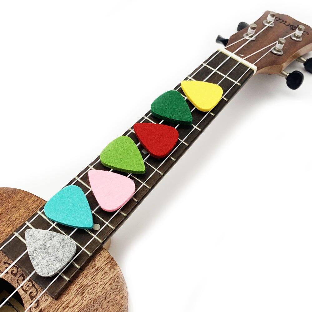 SLOZZ-ukelele de fieltro suave, paquete de 5 piezas, accesorios para ukelele