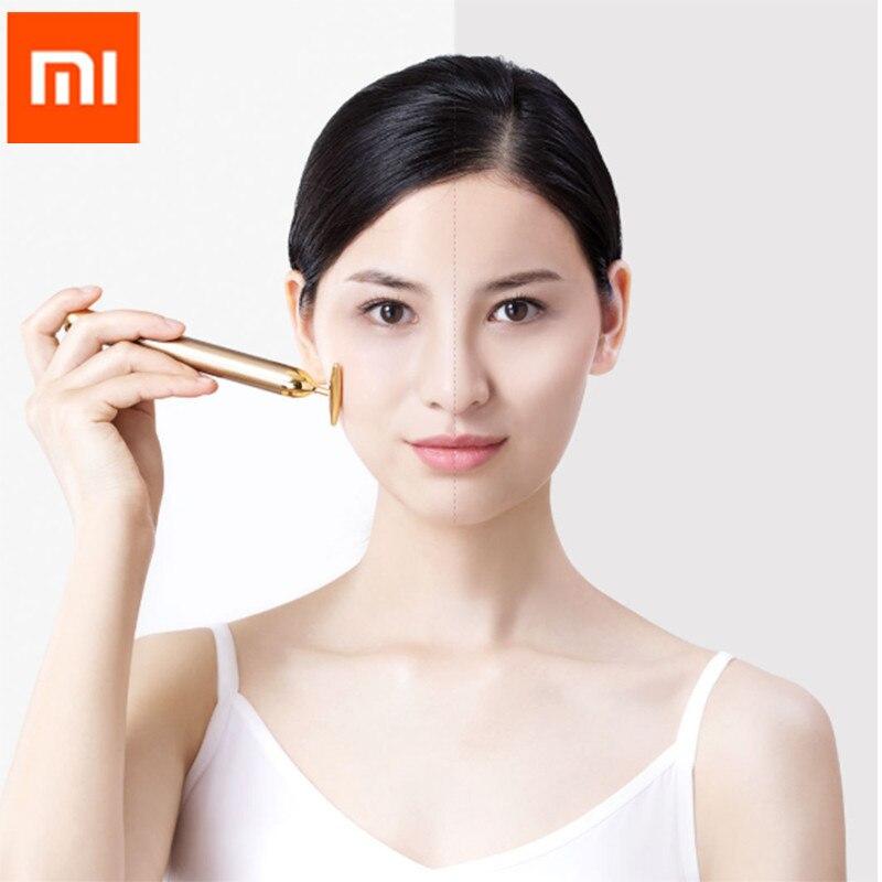 Banhada a Ouro Cabeça para Cima Barra de Beleza Xiaomi Inface Gold Beauty Massagem Melhora Edemas Lifting Facial Spa Portátil d5 Bar