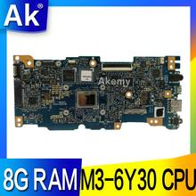 AK ZenBook UX305CA Laptop anakart ASUS UX305CA UX305C UX305 U305C Test orijinal anakart 8G RAM M3-6Y30 CPU