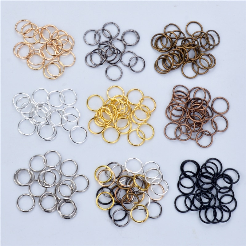 200pcs/lot 9Color Open Jump Ring 4 6 8 10 mm Silver Gold Rhodium Black Bronze Copper for DIY Jewelry Findings Connector 1 box 4 5 6 7 8 10mm jewelry findings open jump split rings connector for diy jewelry findings making rhodium gold silver color