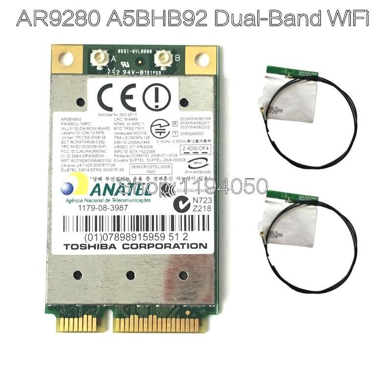 Atheros AR9280 AR5BHB92 двухдиапазонный 2,4 ГГц/5 ГГц 802.11a/B/G/N 300Mbp Беспроводной Wi-Fi мини-pci-e модуль карты WiFi