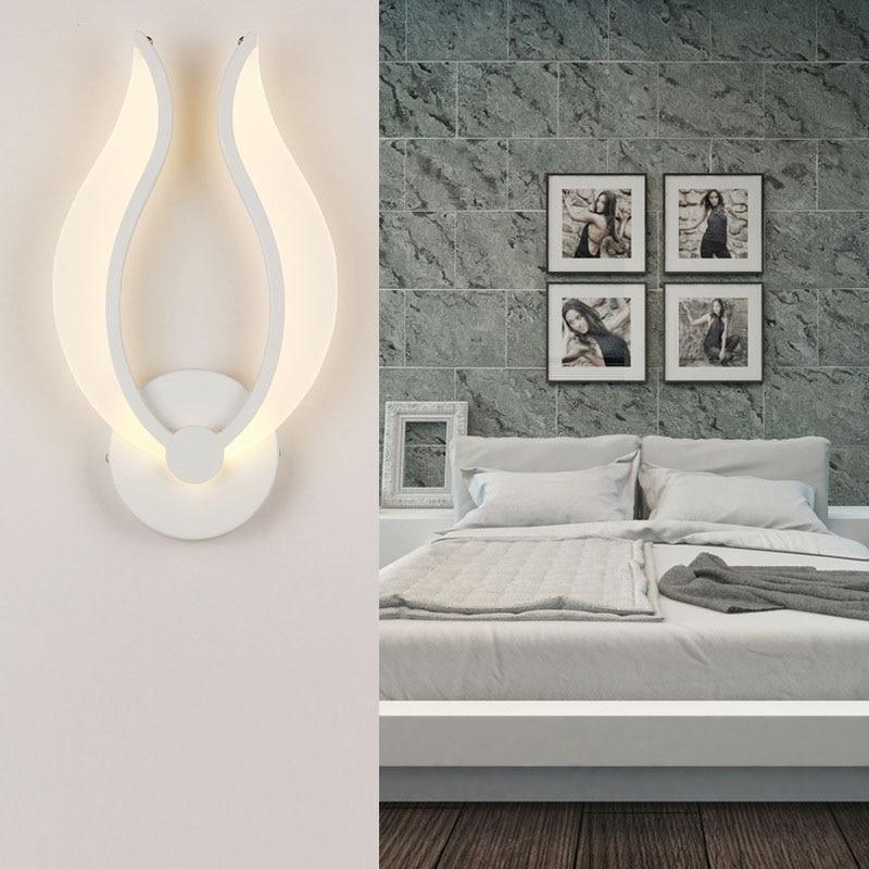 Lámpara de pared creativa con forma de llama, lámpara de pared para el hogar, Art Decó, lámpara de pared, modernas escaleras LED, accesorios de luces de espejo para pasillo AC220V