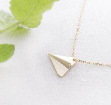 30 Origami avion pendentif collier minuscule Aviation avion modèle avion collier papier avion collier rêve astronaute bijoux