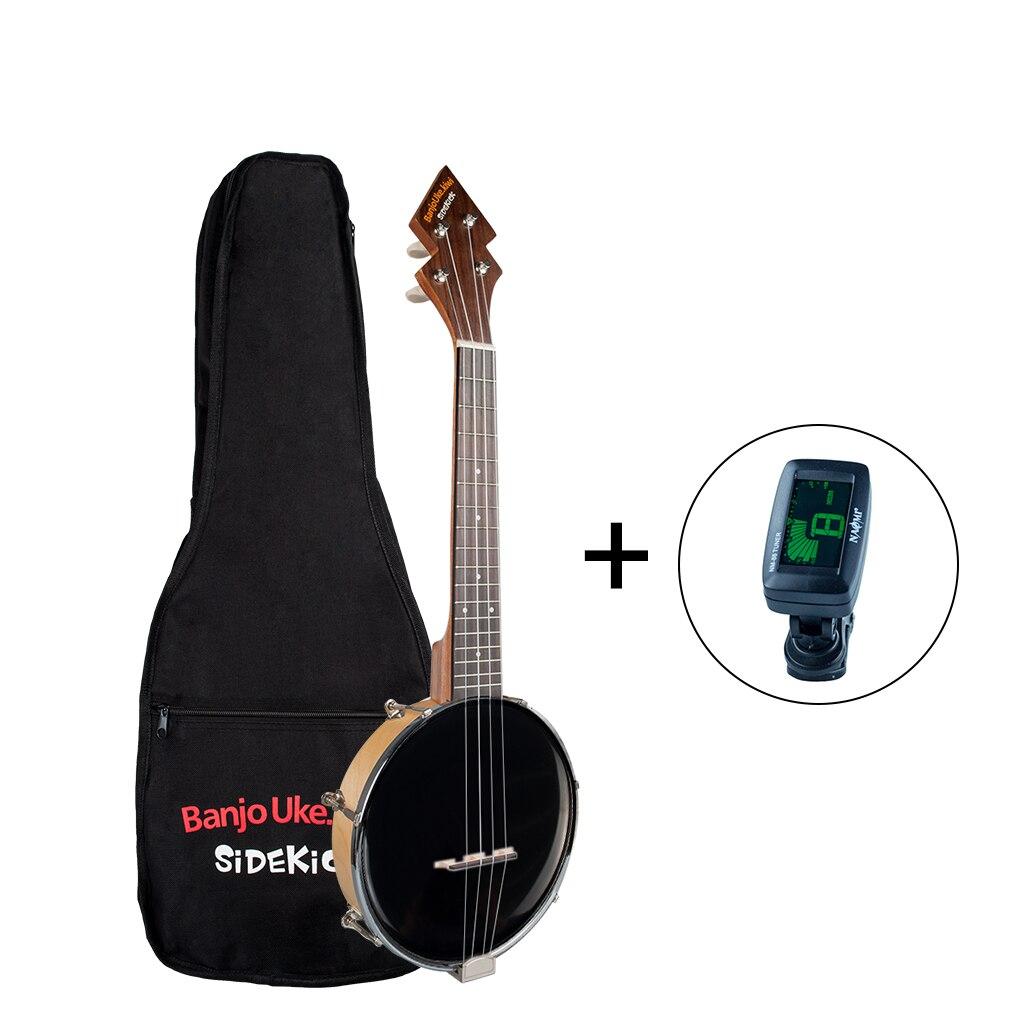 Banjolele diseño patente Banjolele Tenor tamaño Banjo ukelele + bolsa de Trabajo + sintonizador Color negro 26 pulgadas Color negro