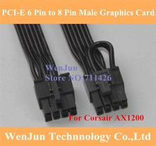 Black PCI-E 8Pin to 8 Pin Graphics Card Modular Power Supply Cable for Corsair AX1200 30CM/60CM