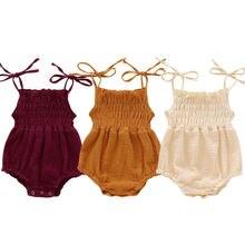 Newborn Infant Kids Cotton Strap Bodysuits Sunsuit Baby Girl Summer Bodysuit Playsuit Jumpsuit Outfits Clothes Set