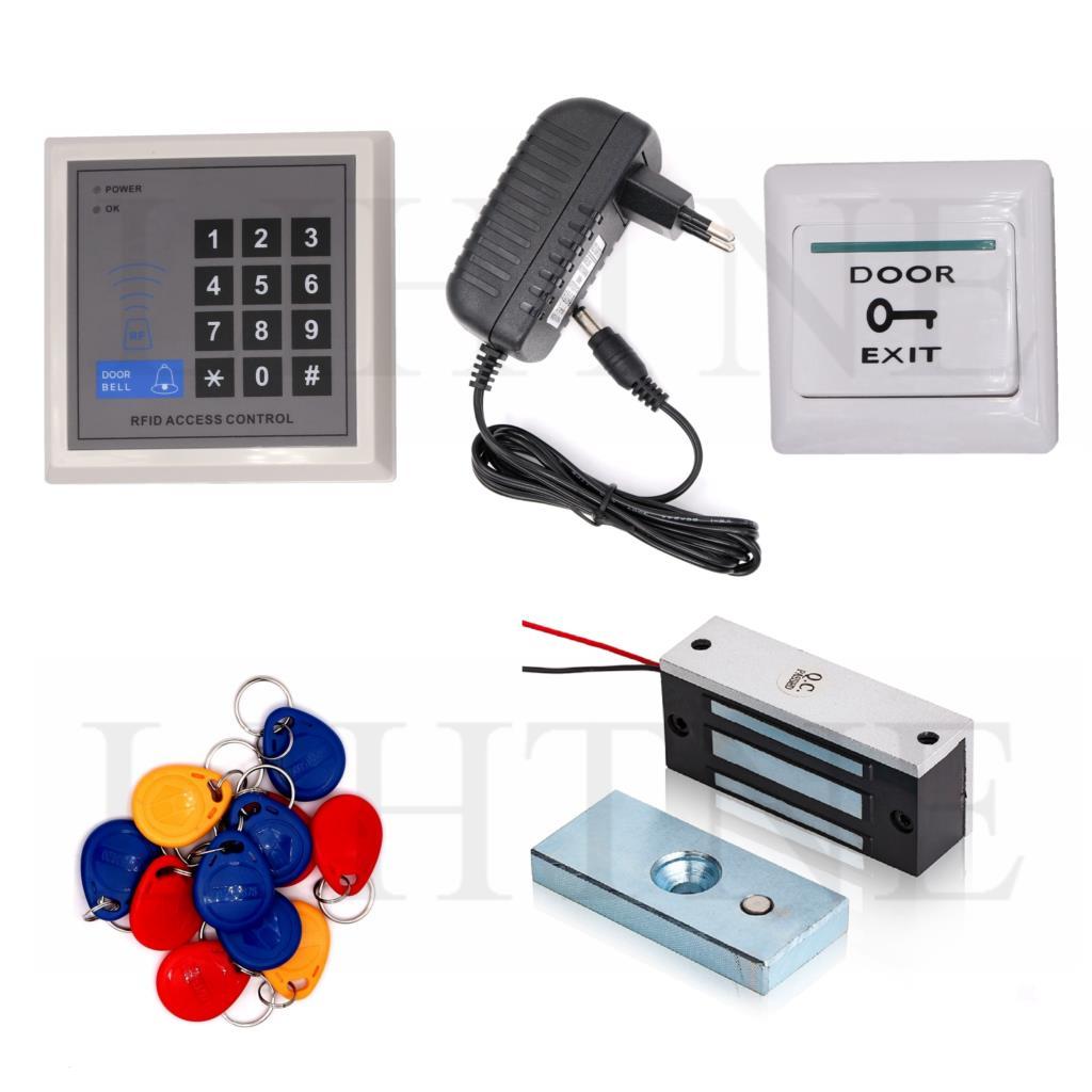 Tarjeta de proximidad RFID 125KHz tarjeta contraseña Sistema de Control de Acceso de puerta de entrada 100lbs Kit de bloqueo magnético