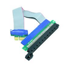 PCI-E exprés 1x a 16x extensión Flex Cable convertidor extensor adaptador de 20 cm