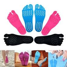 1 Pair Adhesive Foot Pads Feet Sticker Stick On Soles Flexible Anti-slip Beach Feet Protection KG66