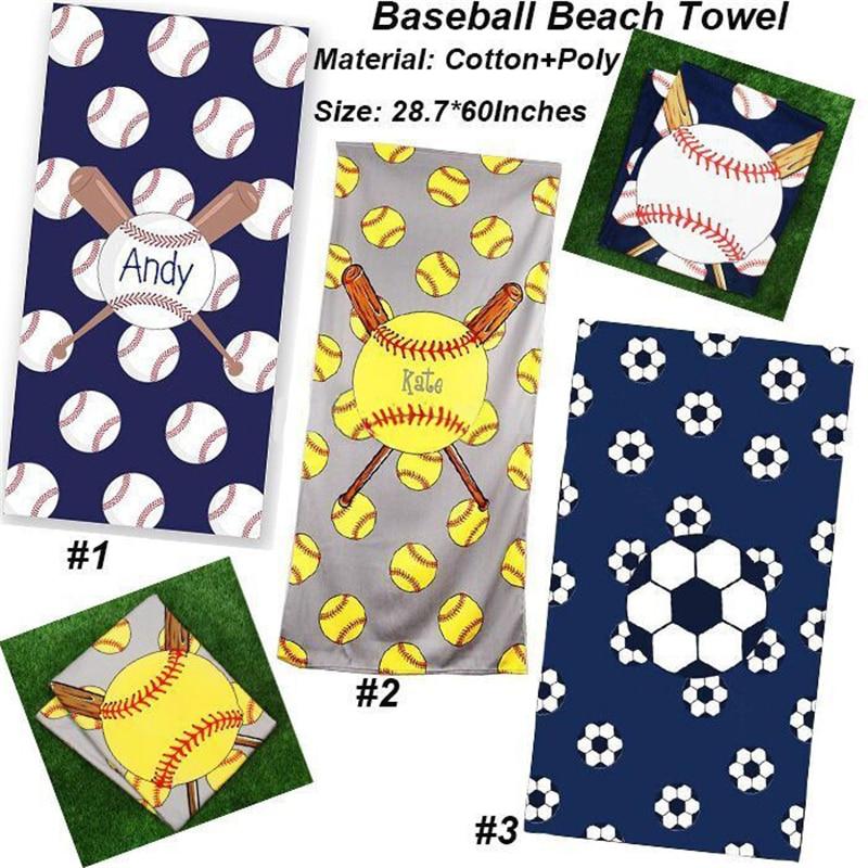 Casegrace, toalla especial de playa de béisbol, toalla cuadrada de baño impresa con fibra Superfina, esterilla de Yoga, toalla suave, manta, mantel