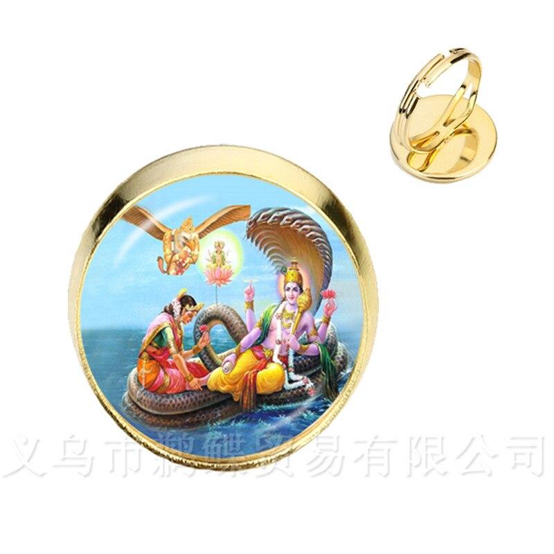 Envío de la gota Ganesha estatua hindú Ganapati Vinayaka Dios anillos Vintage Señor Ganesha indio el budismo ajustable anillo para las mujeres