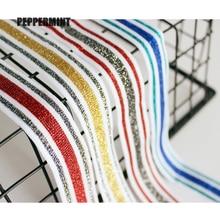 1yard 2.5cm Golden Stripe Tape Lace  Trim Clothing Side Ribbon Band Lace Ribbon braid Webbing DIY Sewing Accessory