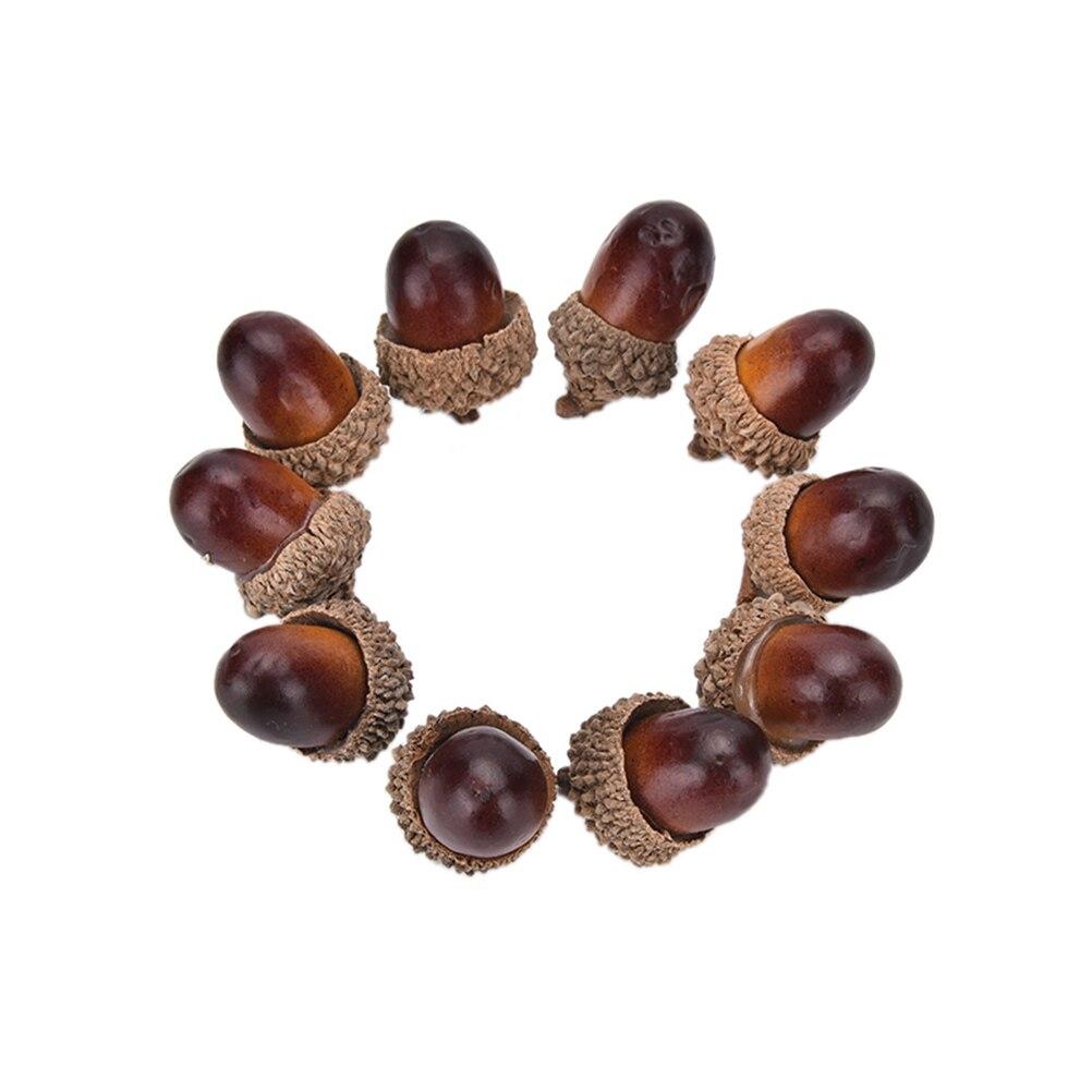 Mini gland Acorn artificiel 10 pièces/lot   Mousse de noix et noix de chêne, ornements décoratifs pour maison, fête de noël, décoration de maison, noël