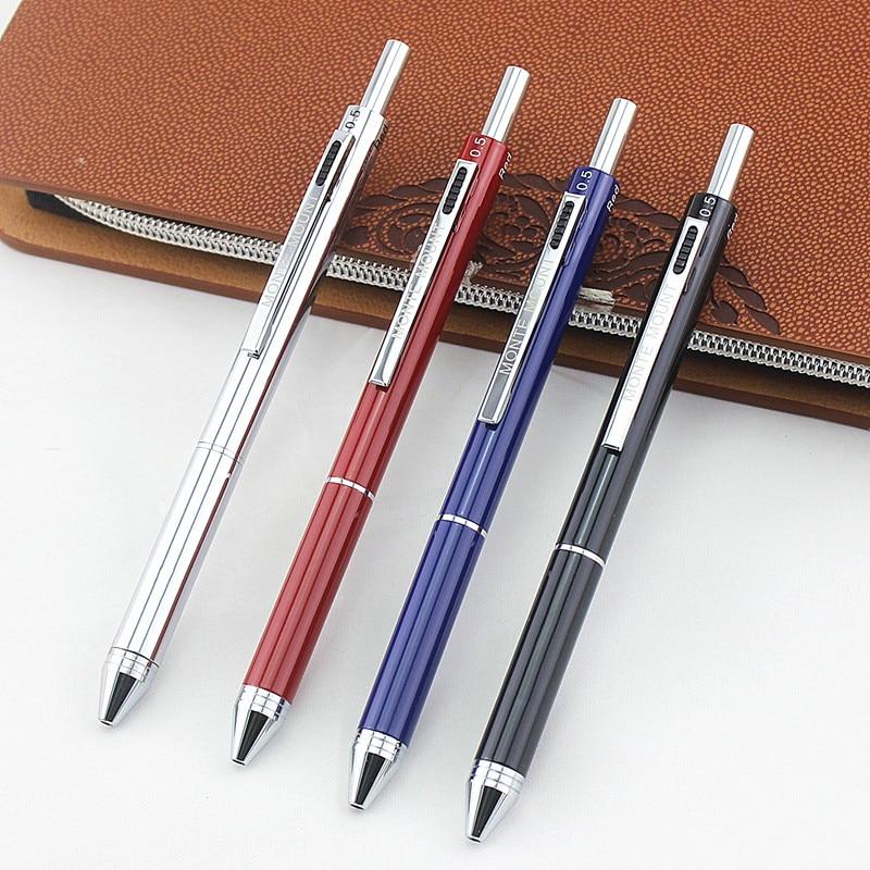4 в 1 разноцветная ручка, креативная шариковая ручка, цветная Выдвижная шариковая ручка, многофункциональная ручка для маркера, канцелярски...