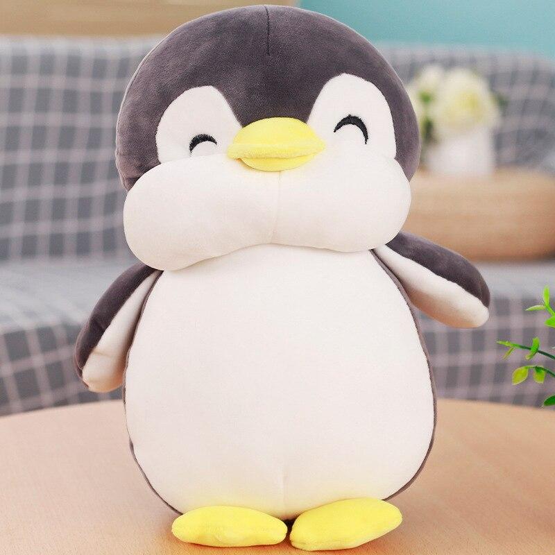 Gran peluche suave pingüino gris juguete encantador pingüino gordo muñeca regalo alrededor de 60cm 2664