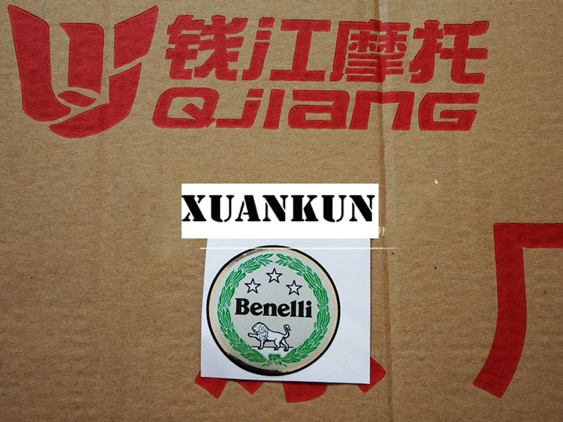 XUANKUN BJ600GS/BJ300GS топливный бак промежуточная Защитная Наклейка BN600 круглая паста