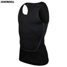 شيك الرجال ضغط قاعدة خط اللياقة البدنية قميص بدون أكمام الصدرية تنفس S-2XL
