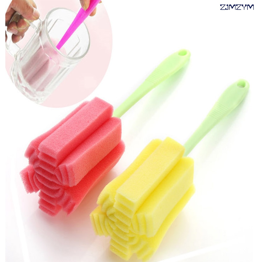 1 herramienta de limpieza de cocina, cepillo de esponja para botella de vino, café, té, taza de vidrio, cepillo para lavar el vidrio