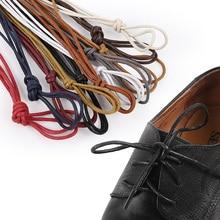 USHINE 1 par de algodón encerado ronda los cordones de los zapatos de cuero de cordones a prueba de agua hombre Martin zapatos de cordones de los zapatos los cordones de los zapatos