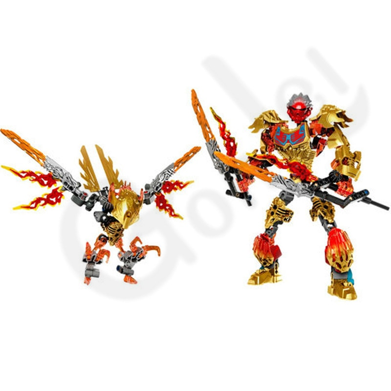 NEW Biochemical Warrior BionicleMask of Light Bionicle Tahu Fire IKIR Building Block Toy Model Compatible with leges 71308 71303