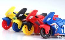 10 pièces multi couleur Mini moto/enfants tirer arrière moto jouets/cadeaux de noël moto pour enfants enfant expédition rapide