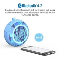smart bluetooth speakers portable sport outdoor audio shock bass waterproof support tf card voice prompt phone hd call function