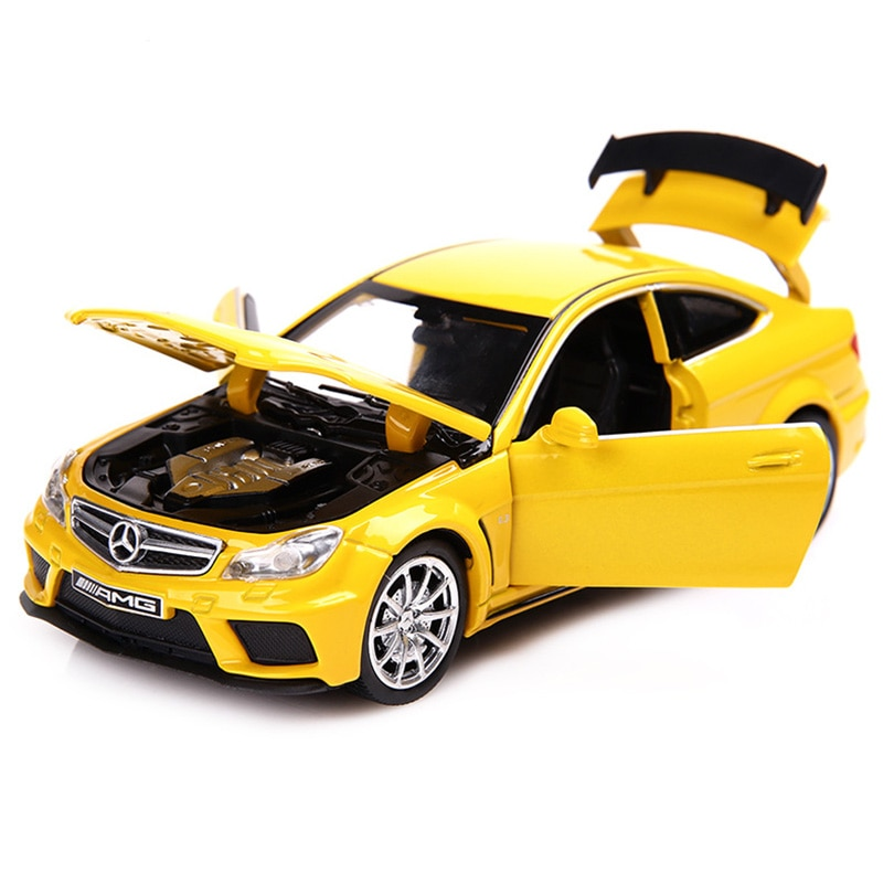 132 C63 súper coche simulación coche modelo aleación tirar atrás niños juguetes genuino licencia colección regalo todoterreno vehículo niños