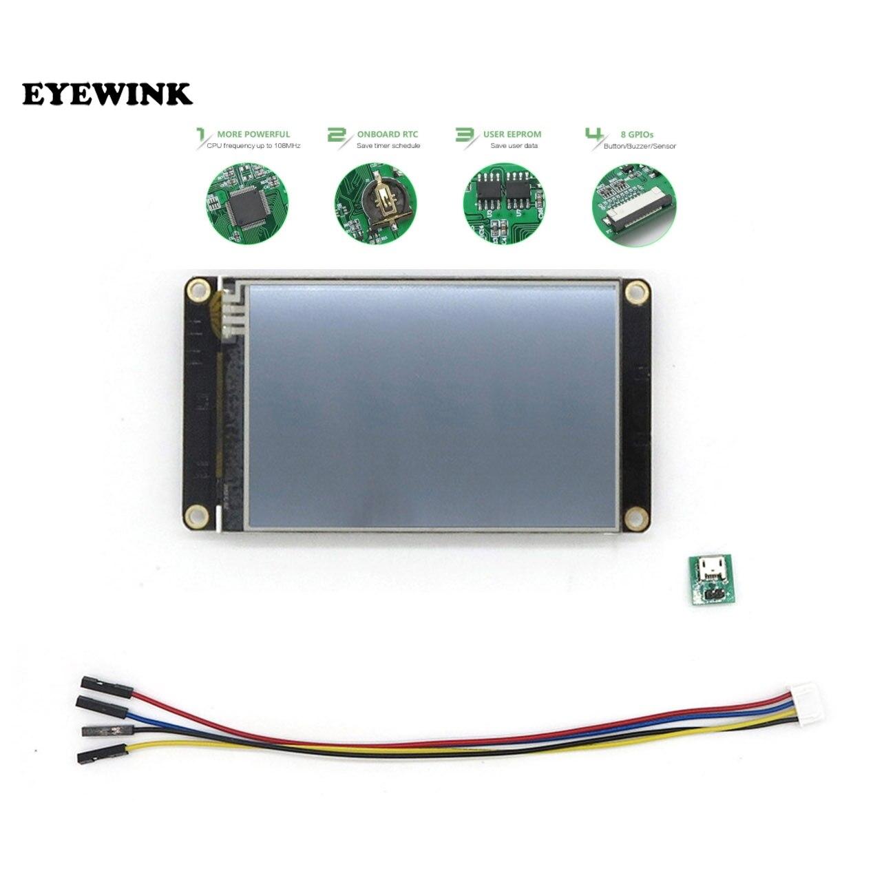 Интеллектуальный сенсорный TFT ЖК-модуль Nextion Enhanced HMI USART UART, 3,5 дюйма, панель дисплея для Raspberry Pi NX4832K035