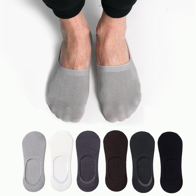 Modal calcetines cortos de algodón desodorización Invisible suave calcetines de corte bajo para hombre corto no show Crew hombre Gel de sílice antideslizante verano