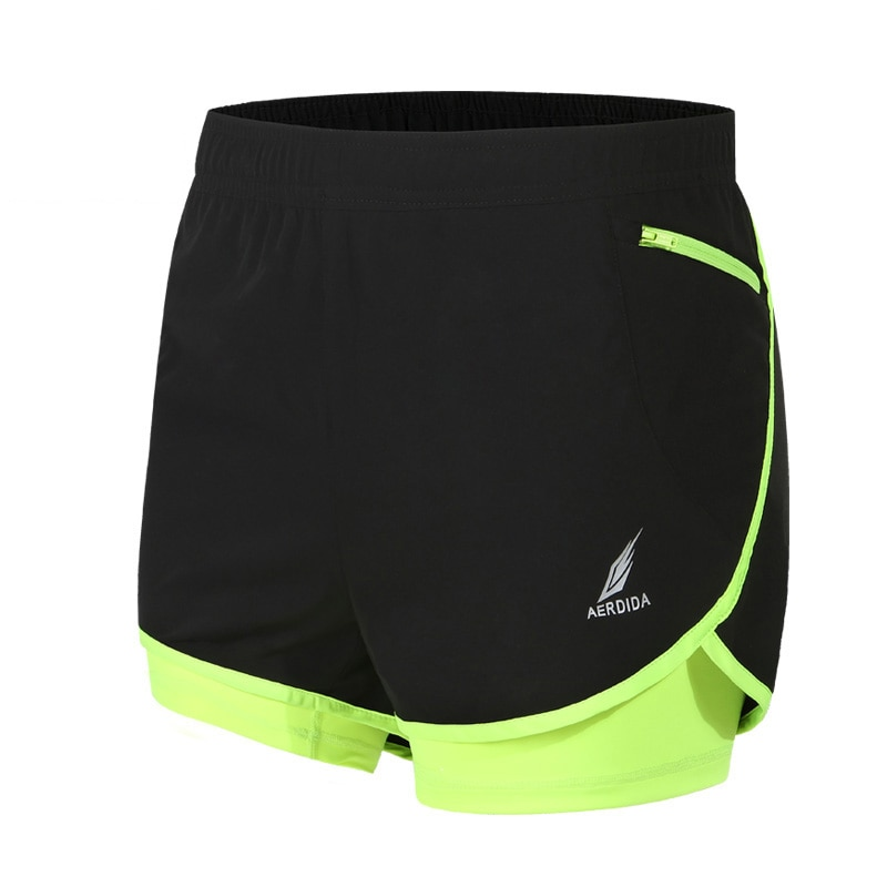 2 in 1 Men's Marathon Running Shorts Jogging Sports Shorts M-4XL Training Short Sport Homme Pantalones Cortos Deportivos Hombre