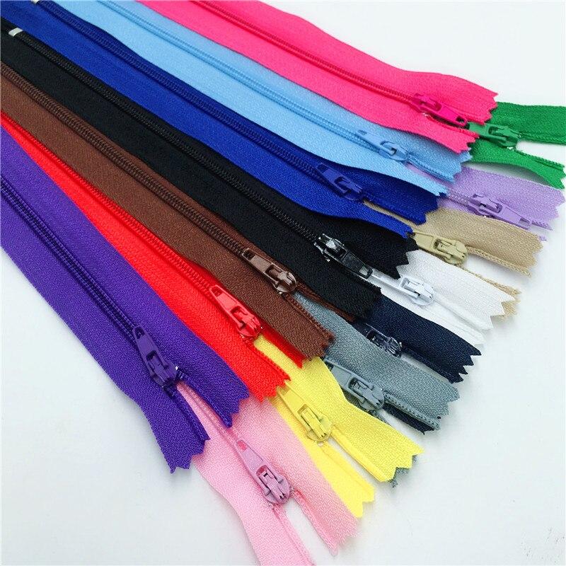 100 Uds (10nch) 25CM 3 # cremalleras de nailon cerradas para manualidades de costura a medida