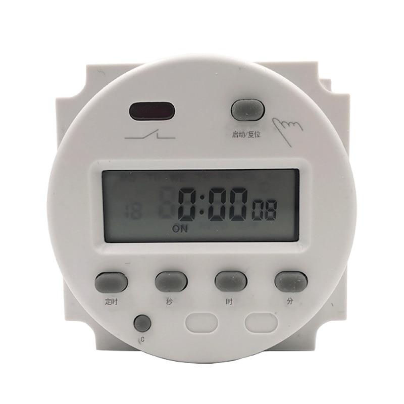 Temporizador de cuenta regresiva de un solo segmento CN102A interruptor de control de segundos de ciclo automático 220V110V12V24V