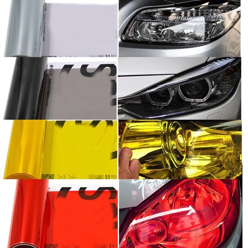 JEAZEA 30CMX200CM Auto Car Headlight Taillight Lamp Light Tinting Vinyl Film Sticker For BMW Audi Mitsubishi Mercedes benz