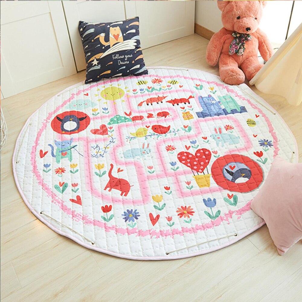 Juguetes para bebés, alfombra para niños, alfombra para juegos de bebés, alfombra para desarrollar, Alfombra de algodón para niños, colchonetas para gatear suaves, bolsa de almacenamiento plegable, Juguetes