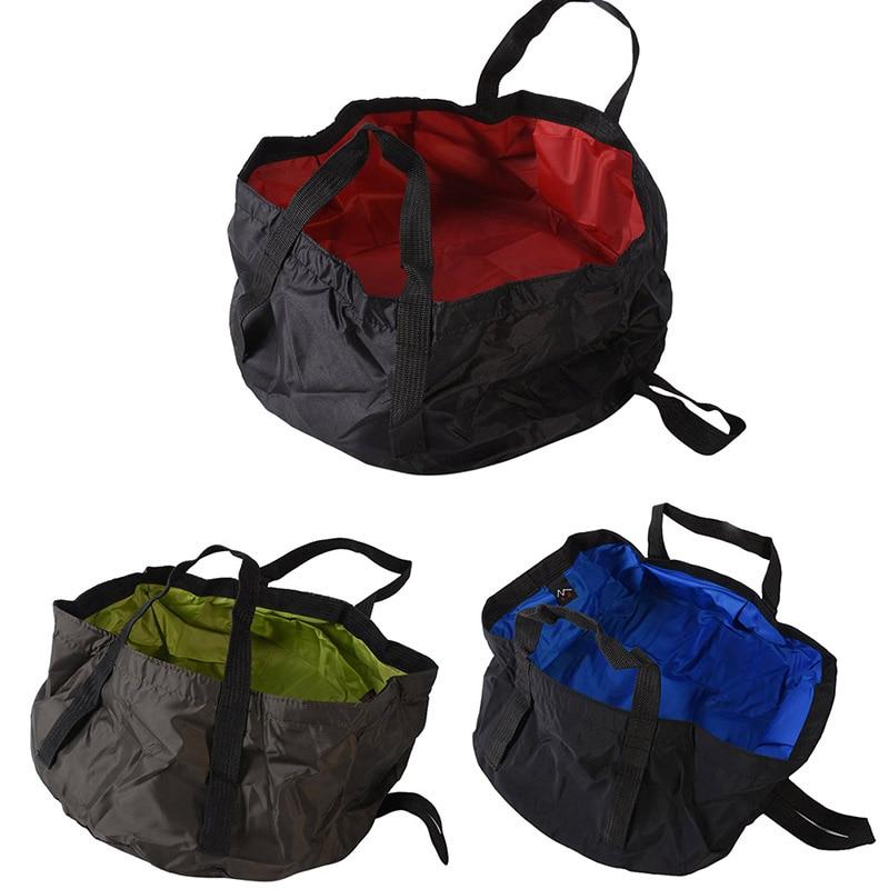 Ultra-light Portable 8.5L Outdoor survival Folding Washbasin Camping Basin Water Bag Camping Survival Military Travel Kits LZH