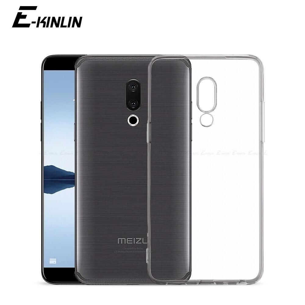 Прозрачный силиконовый чехол для телефона Meizu M8 M6T M6s M6 M5c M5s Note 9 X8 Pro 8 7 6 18 17 16T 15 Lite 16th плюс 16S 16Xs 16X TPU Защитный чехол