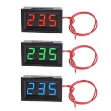"""2 Wire 3 Digits 0.56"""" AC 30V-500V LED Digital Voltmeter Voltage Meter Monitor Tester For 110V 220V 380V"""