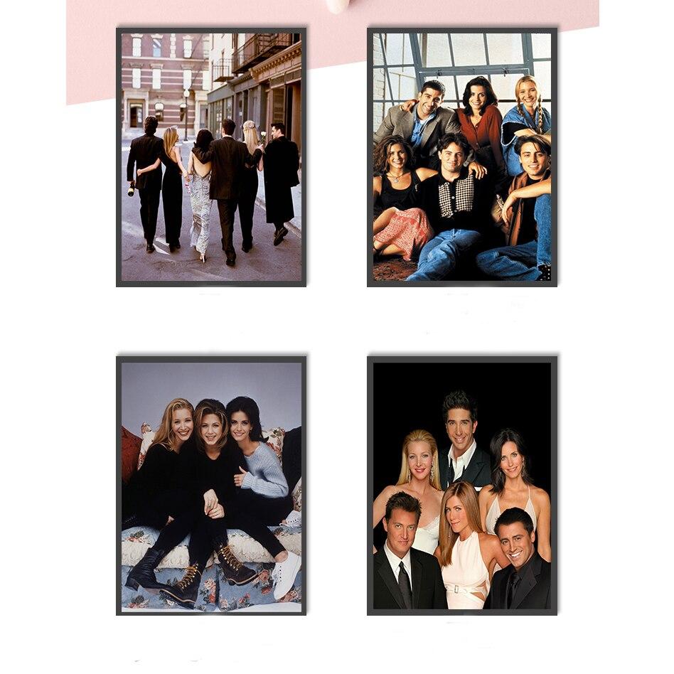 Film Poster Freunde TV Show Leinwand Malerei Haus Kunst Innen Dekoration Wand Bilder für Wohnzimmer Kinder Zimmer Dekor