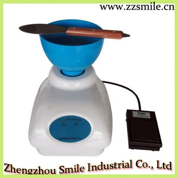 Mezclador de piedra de troquel/alginato de impresión de laboratorio Dental de Velocidad Variable aprobado por la CE con Control de pie 110V