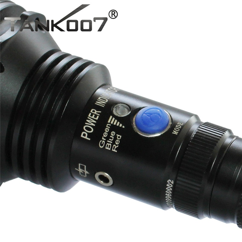 Tank007 TC60 Cree XM-L U2 1200lm Tactical Flashlight for Hunting and Fighting by 2 X18650 Battery enlarge